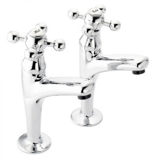 Traditional - High Neck Kitchen Tap Pair