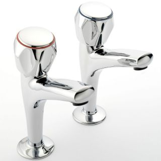 Modern - High Neck Kitchen Tap Pair